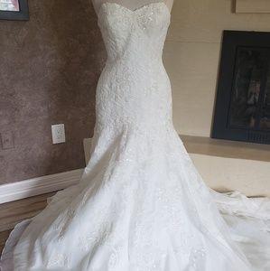 JEWEL by David's bridal AI12030055 organza dress